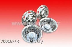 16 Front & Rear Wheel Trims For Mercedes Sprinter Crafter 06+ Stainless Covers