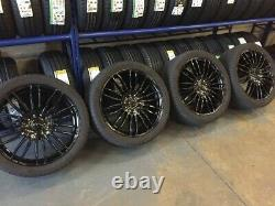 18 New Alloy Wheels Mercedes Sprinter Van Vw Crafter Commercial Rated Black