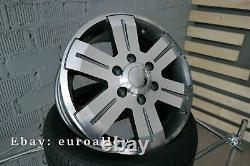 4x 16 inch 6x130 Mercedes Sprinter Rims VW Crafter Gray Alloy Wheels 1400KG New