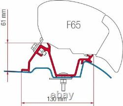 Fiamma F65 F80 Vw Crafter Mercedes Sprinter High Roof Awning Bracket Fitting Kit