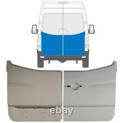 MERCEDES SPRINTER VW CRAFTER 2006- 2x REAR DOOR HIGH OUTER REPAIR PANEL / PAIR