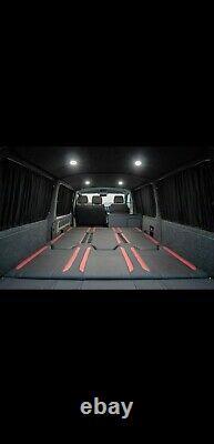 MERCEDES SPRINTER VW CRAFTER Curtain Kit FULL (ALL WINDOWS) Curtains SET BLACK