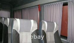 Mercedes New Sprinter VW Crafter window curtains complete set grey