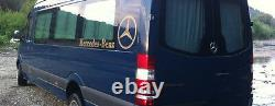 Mercedes New Sprinter VW Crafter window curtains set black color sun shades