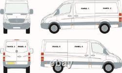 Mercedes Sprinter 07+ / VW Crafter 07-17 Front Set Sliding Windows + Bonding