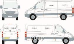 Mercedes Sprinter (07+) / Vw Crafter (07-17) Left Hand Sliding Window + Bonding