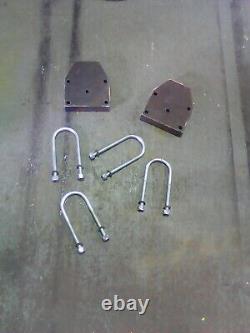 Mercedes Sprinter/VW Crafter LT35 heavy duty Lift blocks raise 40mm Inc U bolts