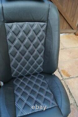 Mercedes Sprinter/VW Crafter Van Seats 2006-17 REAL LEATHER RETRIMMED