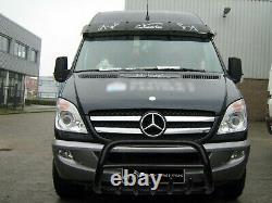 Mercedes Sprinter Vw Crafter Steel Black Axle Nudge A-bar Bull Bar 2007-2013