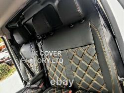 Mercedes Sprinter Vw Crafter Van Seat Cover Orange X150bk-og