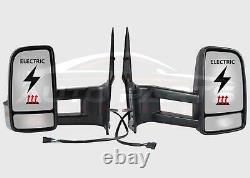 Mercedes Sprinter Wing Mirror Electric Complete Long Arm Set O/S N/S 2006 2018