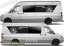 Motorhome Camper van 056 Adventure graphics sticker VW Crafter Mercedes Sprinter