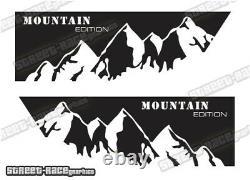 Motorhome Camper van 057 Mountain graphics sticker VW Crafter Mercedes Sprinter