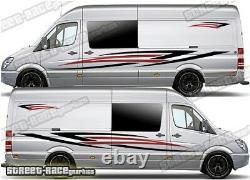 Motorhome Campervan 003 graphics stickers decals VW Crafter Mercedes Sprinter
