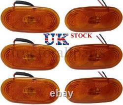 New 6x Side Marker Lights Amber LED Lamps for MERCEDES SPRINTER VW CRAFTER