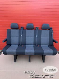 Seat VW Crafter I 2006-2016 Mercedes Sprinter 906 rear triple bench TASAMO