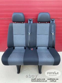 VW Crafter I MB Sprinter 906 Sitzbank Sitz Fahrgastraum Hinten Doppelsitz Tasamo