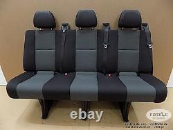 Wide Bench rear triple seat VW Crafter Mercedes Sprinter Isofix NEW AUSTIN